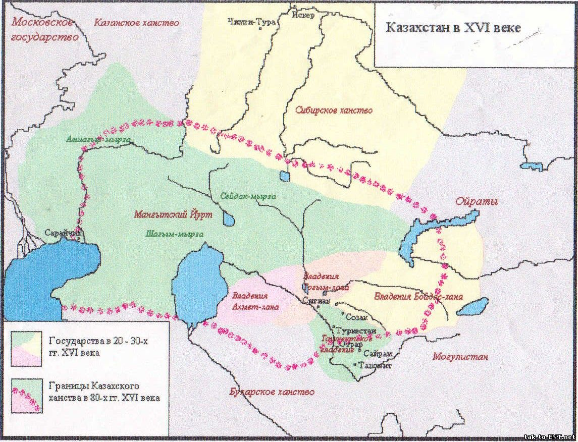 Казахстан в XVI веке