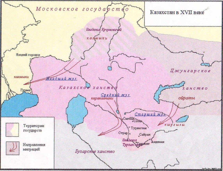 Казахстан в XVII веке